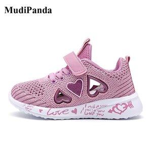 MUDIPANDA ENFANTS Baskets Casual Sports Casual Sport Chaussures Enfants pour Fille Lumière Rose Plat Chaussures Hiver 201112