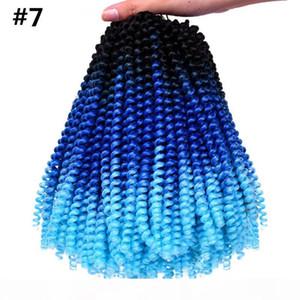 Crochet Braids 30stands pack Spring Twist Hair Extensions Colorful Ombre Kanekalon Synthetic Braiding Hari Crochet Braids