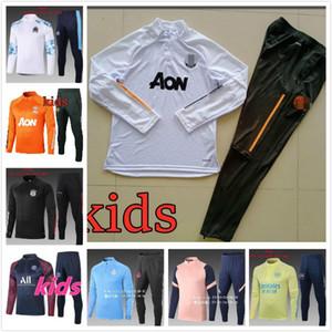 Kids Suitesks Set Boys Kids Chaussures Vêtements Soccer Soccer Tracksuit Kids 20 21 Kits de football Jersey Football Football Football Suit Jerseys