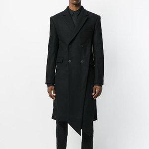 Мужские траншеи на заказ 2021 S-6XL! Мужские волосы шерстяные пальто Оригинальный нерегулярный дизайн размера колена Menswear1