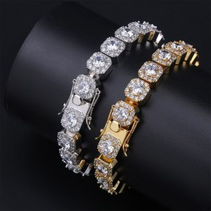 Hip Hop Jewelry Mens Bracelets Diamond Tennis Bracelet Bling Bangle Iced Out Chains Charms Rapper Fashion Jewelry