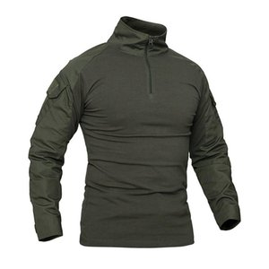 Men Camouflage Tactical Spring Long Sleeve Army Combat Cotton Paintball Hunting Clothing