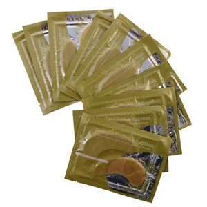 20Pairs lot Anti-Wrinkle Crystal Collagen Eye Mask Eliminates Dark Circles And Fine Lines White Gold Eye Patches Face Skin Care