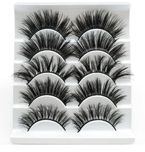 5pairs 25mm false eyelash extension 3D mink lash thick long eyelashes