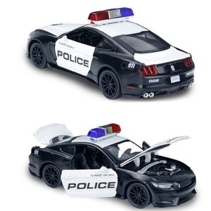 Friction Powered Police Car 1:16 Kids Plastic Toy Rescue Emergency Cop Vehicle with Lights Z1124
