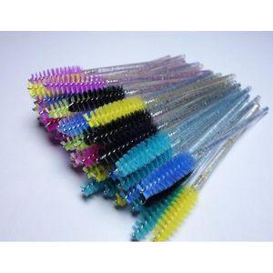 50pcs Shiny Disposable Eyelash Applicator Wands Curler Brush Set Mascara Eyebrow Spoolers Comb Wands Spoolies bbyQfm