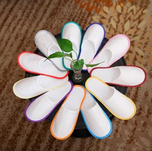 Disposable Slippers Anti-slip Slippers Wholesale Travel Hotel Guest Shoes Multi-colors Breathable Soft Disposable Slippers EWC4072