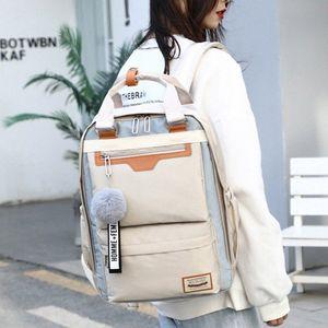 Modische TrVEL Dame Waterproof J8ym # Bags passen alle Nylon-Stil-Multifraktion Womens College-Schule für Mädchen Rucksack EPQXJ