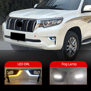 1Pair для Toyota Land Cruiser Prado 2018 2019 2020 Светодиодный автомобиль Daytime Right Light Light Fight Fight Lamb Assembles.