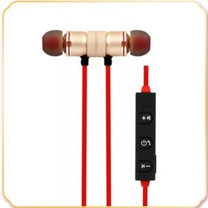 Bluetooth-Kopfhörer Stereo-magnetische drahtlose Laufsport-Ohrhörer Headset BT 4.1 mit MIC MP3 Earmud für Handys
