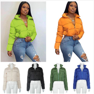 Kadınlar Kış Coat Tasarımcı 2020 Moda Yeni Uzun Kollu Ceket Hırka Standı Yaka Sıcak Bayanlar Rahat Ekmek Aşağı Ceket