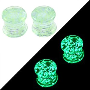 2pcs Glow In The Dark Sile Ear Plugs And Tunnels Piercing Expander Piercing Tunnel Ear Tunnels Stretchers Plug Ear Gauges Q sqcXup