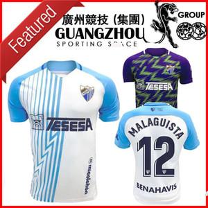20 21 Malaga Fussball Trikots Málaga 2020 2021 K. Bare Jersey Juanpi Adrian Football Hemd Juankar Camiseta de Fútbol CF Juande Mens S