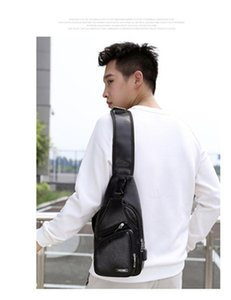 Fashion Crossbody Chest Bags 2020 New men bag Casual bag men Cross Body Bag Travel Shoulder Bags Back Pack Pure color