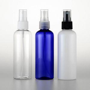 50pcs 100ml Vuoto Bianco Bianco Plattina PET PET PET, 100CC Piccoli bottiglie spray da viaggio con pompa, bottiglie di spruzzo per profumi ricaricabili SEA12