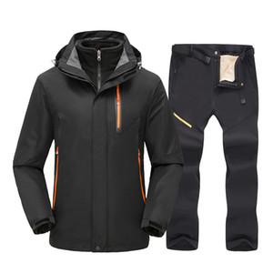 Ski Suit For Men Winter Warm Windproof Waterproof Outdoor Sports Snow Jackets Pants Male Ski Equipment Snowboard Jacket Brand Z1128