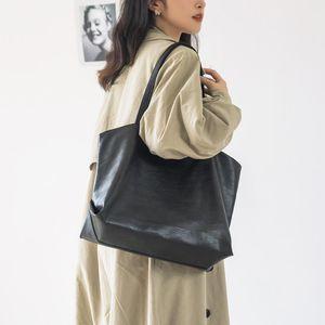 Women Large Capacity PU ShoulderBag Female Multifuction Simple Style Portable Shopping Bag Ladies Top-handle Bucket HandBag