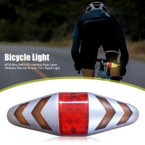 Bicicletta impermeabile Bicycle Wireless Bicycle Turn Signal Signal Light Bike LED Taillight Strobe Lamp Attrezzatura da ciclismo