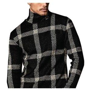 Hombre tortuga de tortuga otoño primavera jersey cálido patchwork suave delgado ajuste no yq knit casual masculino parque suéter