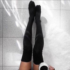 Brand New Women Winter Cable Knit Over Knee Long Boot Thigh-high Warm Stockings Lace Leggings Stockings sqchTH