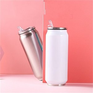 DIY Cans Cycling Blank Coated Cups Sublimation Blanks Vacuum Cup Thermal Transfer Printing Car Bottle Special New Product 16xmH1