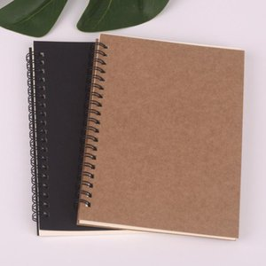 2020 New Spiral Bullet Notebook School Supplies Diary Point, Blank Optional Kraft Paper Cover 50 Page Diary Sketch Book