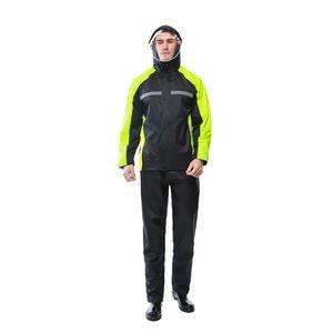 Overalls Raincoat Pants Suit Motorcycle Waterproof Cycling Hiking Mens Sports Suits Inpermeable Yagmurluk Erkek Rain Gear BE50rc J1211