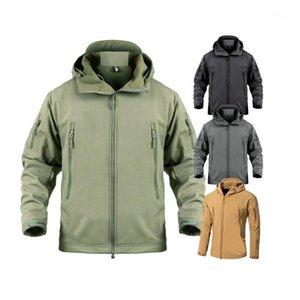 Мужские ветровки мужские Softshell Army Hiking Tactical Jackets Eartwear Camouflage водонепроницаемый боевой куртка толсточная форма1