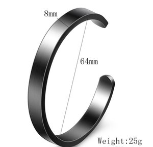 New Fashion 8mm Titanium Stainless Steel Mens And Womens Blank Open Cuff C Shaped Bangle Bracelet Lover Jewelry wmtsmF bdesybag