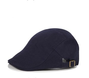 Beret Hat Ear Flap Cotton Flat Hat Beret Men Spring Winter Casual Warm Beret Muff British Vintage Adjustable Casual Male Gatsby Hat DHD1400