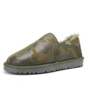 SWYIVY 45 más el tamaño de Natrual de lana de la nieve Botas Mujeres Invierno 2018 escotados del cuero auténtico femeninas snowboots calientes zapatos resbalón de Pareja