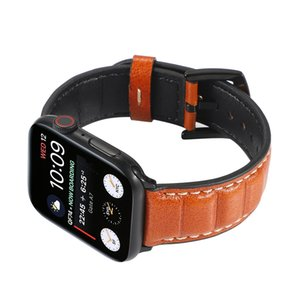 Fashion Real Genuine Leather Strap Smart Watchband Para A Apple Watch Bands Bracelet IWatch 4 3 2 1 38mm 40mm 42mm 44mm