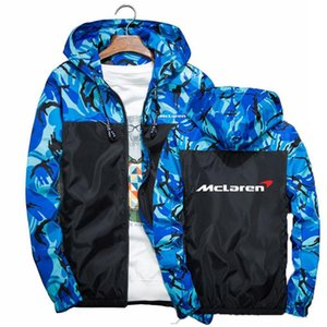 2020 Autumn Men McLaren car logo Street Camouflage Stitching Windbreaker Thin Jacket Male Casual Coat Sport Tops zipper Hoodies