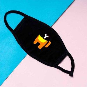 Adulto Nuevo entre los Juegos de EE.UU. Designer Face Mascarilla Impreso Patrones de dibujos animados Ceremate Mascarilla Cubierta Boca Máscara protectora PPD3823
