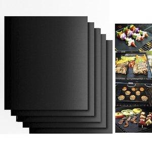 شواء شواء حصيرة دائم غير عصا حصيرة الشواء قابلة لإعادة الاستخدام سهلة النظيفة صفائح الطبخ فرن الميكروويف في الهواء الطلق BBQ أداة الطبخ 40 * 33CM ZYC02