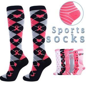 Women Compression Socks Sports Running Athletic Stockings Cartoon Cute Print 3d Warm Pressure Nurses Running Athletic Socks