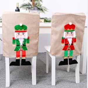 Chaise Décoration de Noël Retour Couverture du Festival Prop pour la nouvelle année de célébration Housses de chaise Protector siège Slipcovers