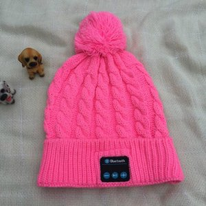 2020 new women's trend winter imitation cashmere hat Bluetooth music warm autumn winter knitted hat