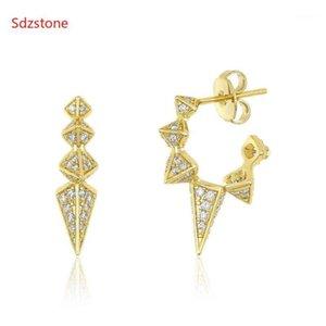 Sdzstone Fashion Women Stud Pendientes Spike Ear Gold Pendiente 15mm Círculo Joyería Korean Punk Style Mujeres Pendientes1