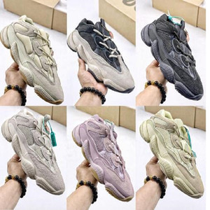2021 Лучшее качество Камень мягкое видение Обувь Пустыня крысы 500 Мужчины Женские Обувь Костяная Белая Соль Супер Луна Желтые краснежки