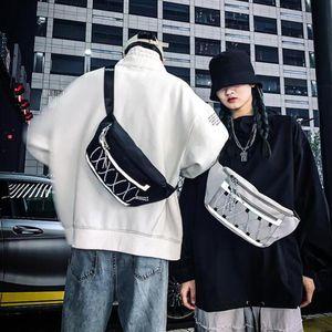Man Bags Chest Bag Reflective Bag Women Shoulder Male Messenger Hip Hop Belt Female Crossbody