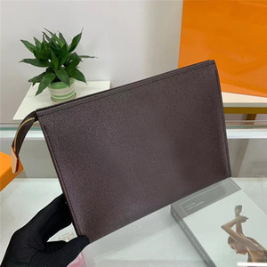 2019 Cartera Cartera Flower Coffee Black Lattice Mens Bags Mujeres Carteras Cosmetic Bag Zipper Signer Bolsos Bolsos