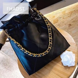 FHADST High Quality Cowhood Fabric Gift Box Package Latest Drawstring Bucket Bag High-end Luxury Ladies Shopping Holiday Essenti
