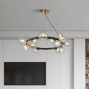 Nordic LED Glass Pendant Lights Creative Living Room Pendant Indoor Lighting Loft Hanging Lamp Light Fixtures Kitchen Accessory