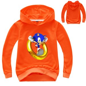 2021New 2-16YEARS LINDO Sonic the Hedgehog Hoodie Kids Coat Boys Sweatshirts Sudaderas Outerwear Outerwear Niña Ropa Bebé Suéter