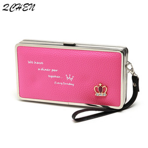 carteira Titular mão telefone saco de embreagem cartão de longa bonito Crown Japão e Coreia do Sul Lunch Box Mulheres cinta 500 Q1117 de Lady
