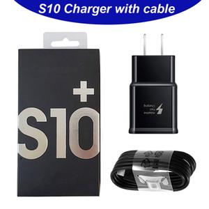 Для адаптера зарядного устройства Samsung 2 в 1 быстрое зарядное устройство Combo S10 ПРИМЕЧАНИЕ 10 Настенное зарядное устройство Тип C Кабельный адаптер ЕС US Великобритания