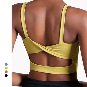 curve Shakeproof High Impact Sports Bra Sexy Back Push up the chest pad Gym Bras Fitness Crop Top Yoga bra For Women
