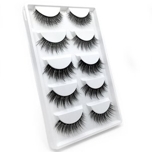 Free Shipping Wholesale Mix G600 3D Faux Mink Hair Lashes 5 pairs of Mink Eyelashes With Gift Box Private Label