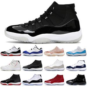 Юбилей 25-летие 11 Мужские баскетбольные туфли 11s Jumpman Concord Cap и платье легенда синий металлический серебряный мужской тренер спортивные кроссовки